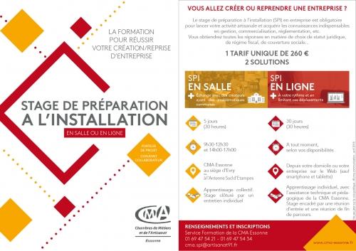 Stage De Preparation A L Installation Chambres De Metiers Et De L